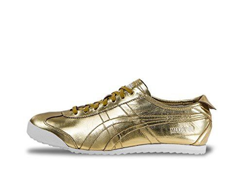 best service 3d5b5 6f651 Onitsuka Tiger by Asics Unisex Mexico 66 Gold/Gold Sneaker ...
