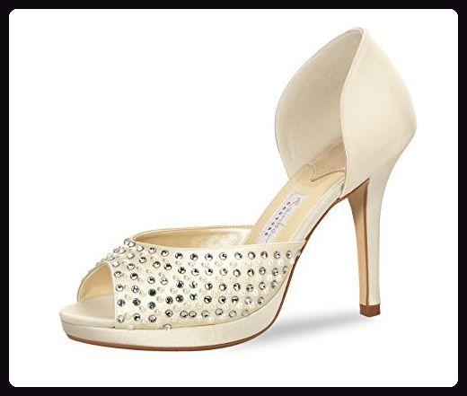 Rainbow Couture Brautschuhe Dali Pumps Peep Toe Ivory Creme