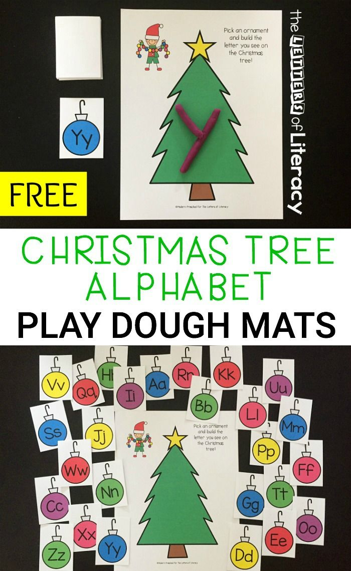 Love These Free Christmas Alphabet Play Dough Mats A Fun Holiday Activity For Kids To Christmas Literacy Activities Christmas Kindergarten Christmas Literacy