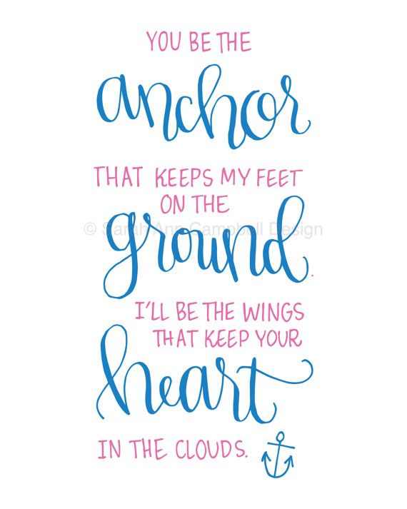 You be the Anchor: Sorority Quote Print, DELTA GAMMA (dg, ΔΓ ...