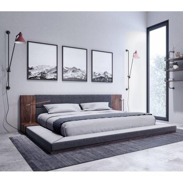 Best Defalco Upholstered Platform Bed In 2020 Upholstered 400 x 300