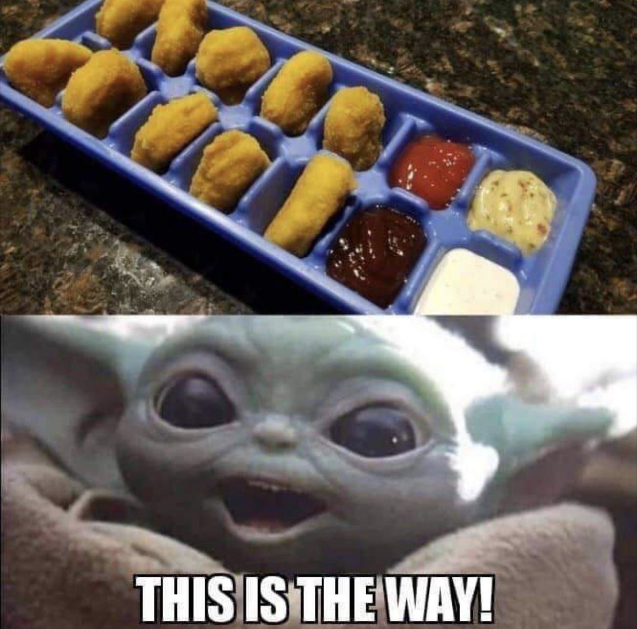 Baby Yoda Chicken Nuggets Yoda Funny Yoda Meme Star Wars Baby