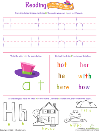 Get Ready for Reading: All About the Letter H | Kind