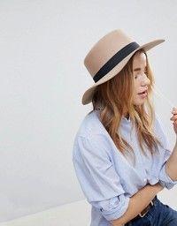 DESIGN felt panama hat with braid braid trim with size adjuster
