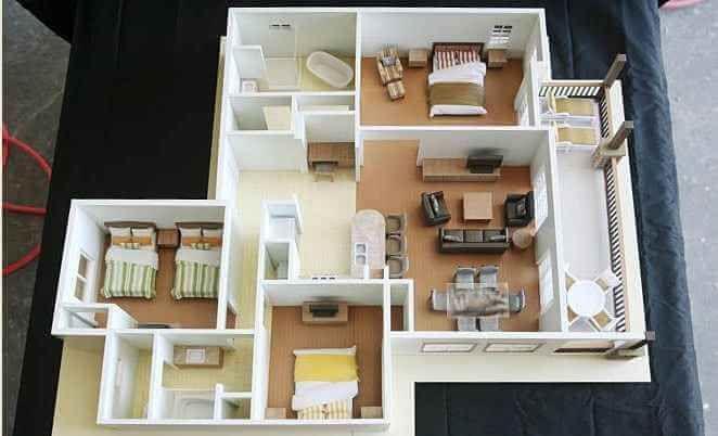 30 Denah Rumah Minimalis 3 Kamar Tidur 3d Tiga Dimensi House