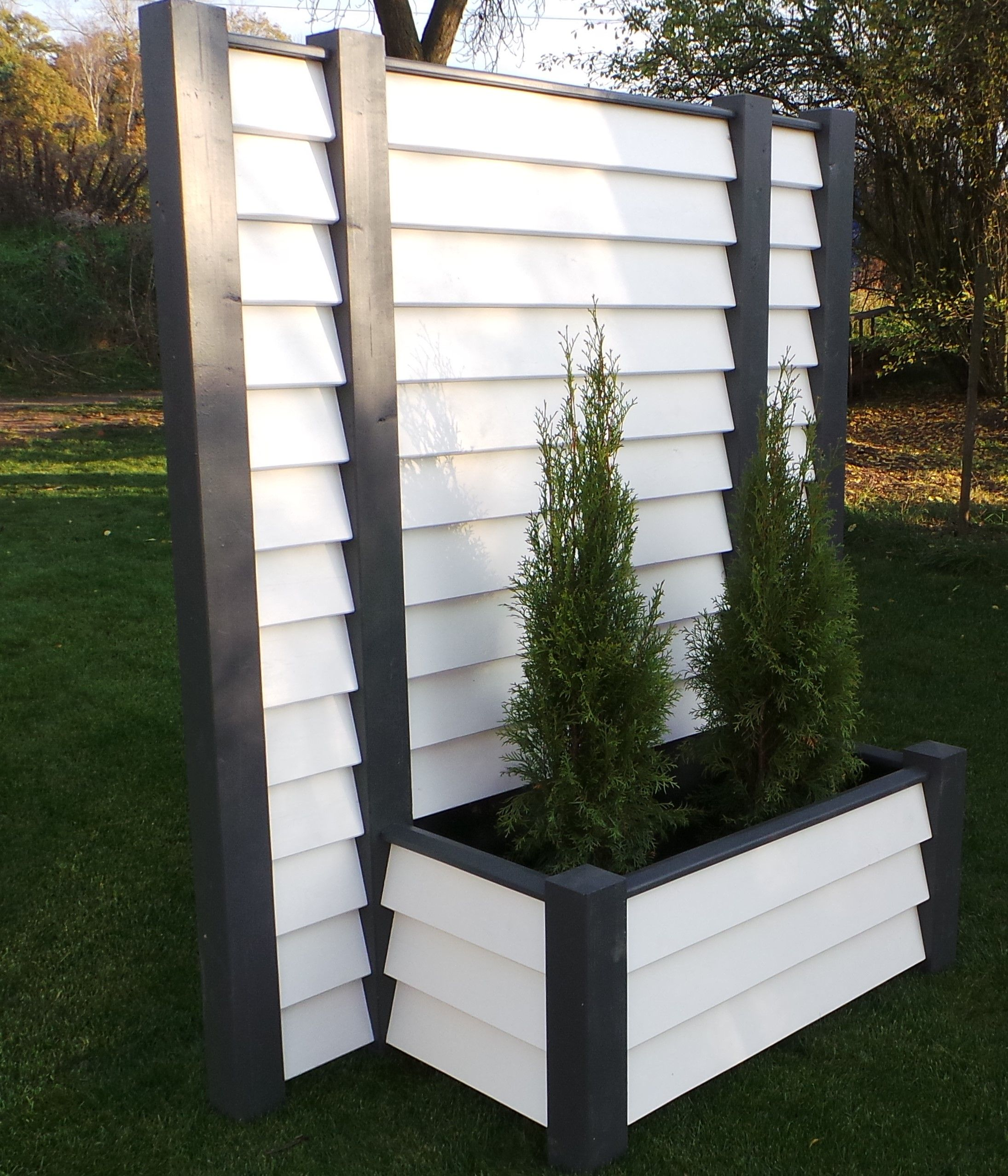Mobiler Sichtschutz Massiv Sichtschutz Terrasse Pflanzkasten