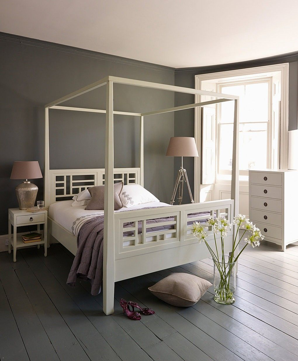 White Four Poster Bed From Lombok I May Have Pinned This Already