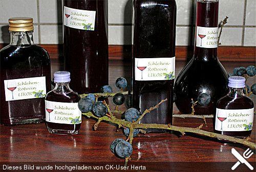 schlehen rotwein lik r lik r. Black Bedroom Furniture Sets. Home Design Ideas