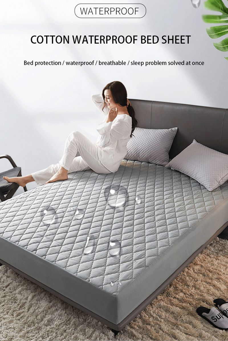 Waterproof Mattress Cover Bed Cover Multicolor Thickened Anti Mite Mat Creationsg Bed Mattress Covers Waterproof Mattress