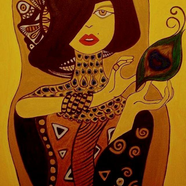 """Descreve o teu pin... Pintura """" A mulher, o olhar... """""""