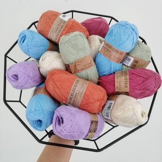 Hemp Yarn Cannabis by Pehorka Russia. Knitting ecoyarn natural colors 50gr/280mt