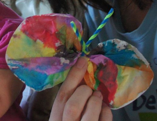Crafts for toddlers: Coffee-Filter Butterflies www.thebump.com