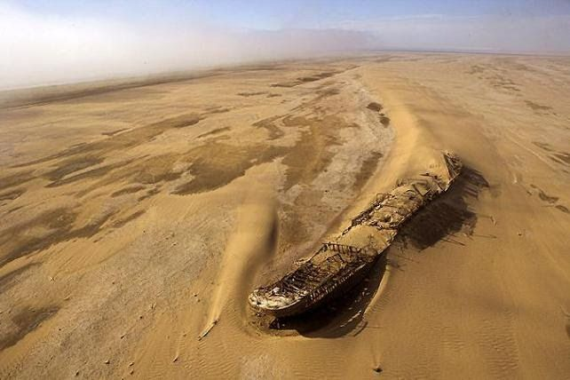 Namib desert shipwreck - Another place were have got to go if you get a chance. Skeleton Coast.