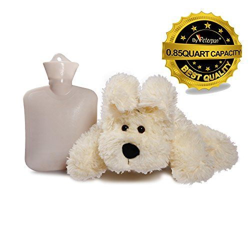 Peter Pan 0.8-Liter Hot Water Bottle with Removable Plush...