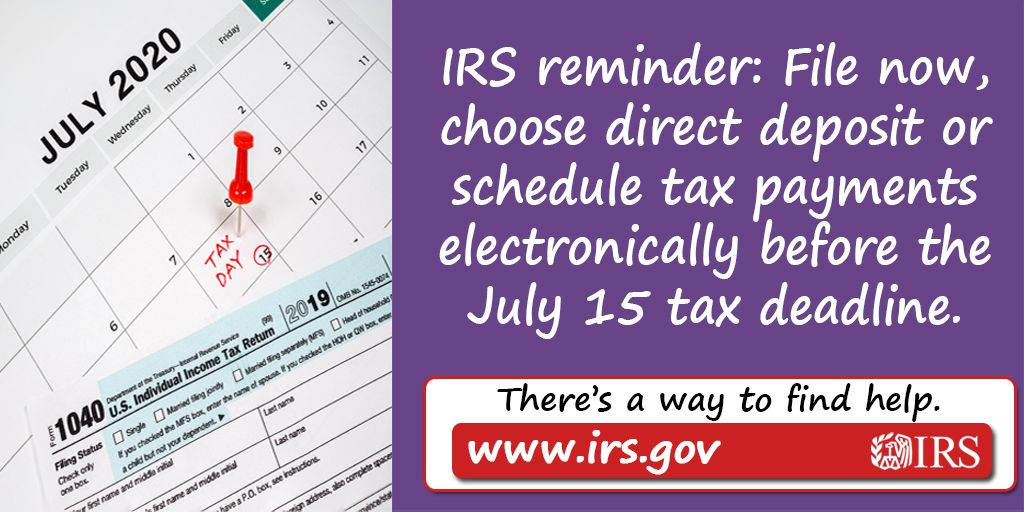 Irs Gives Tips On Filing Paying Electronically And Checking Refunds Online 2019 Tax Returns Tax Return Tax Deadline Tax Payment