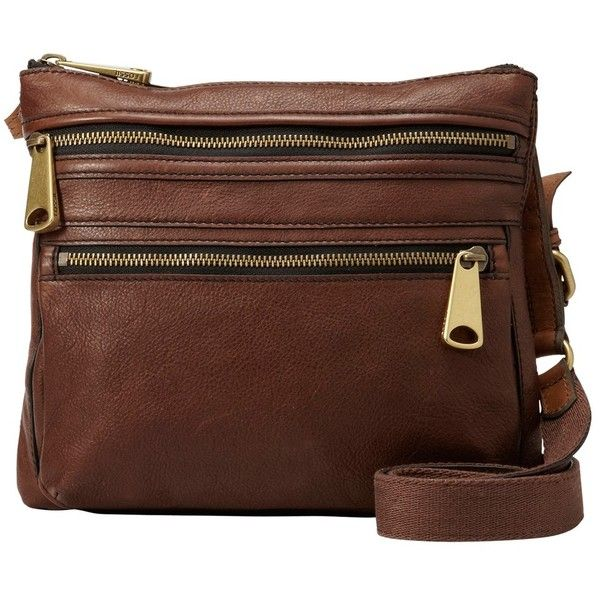 enorme sconto c49c8 9a2f3 Fossil Explorer Leather Across Body Bag , Espresso (€200) ❤ liked ...