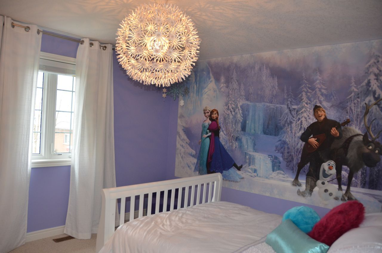 awesome purple bedroom paint color ideas | Emily's bedroom redecorated with Room Mates mural ...