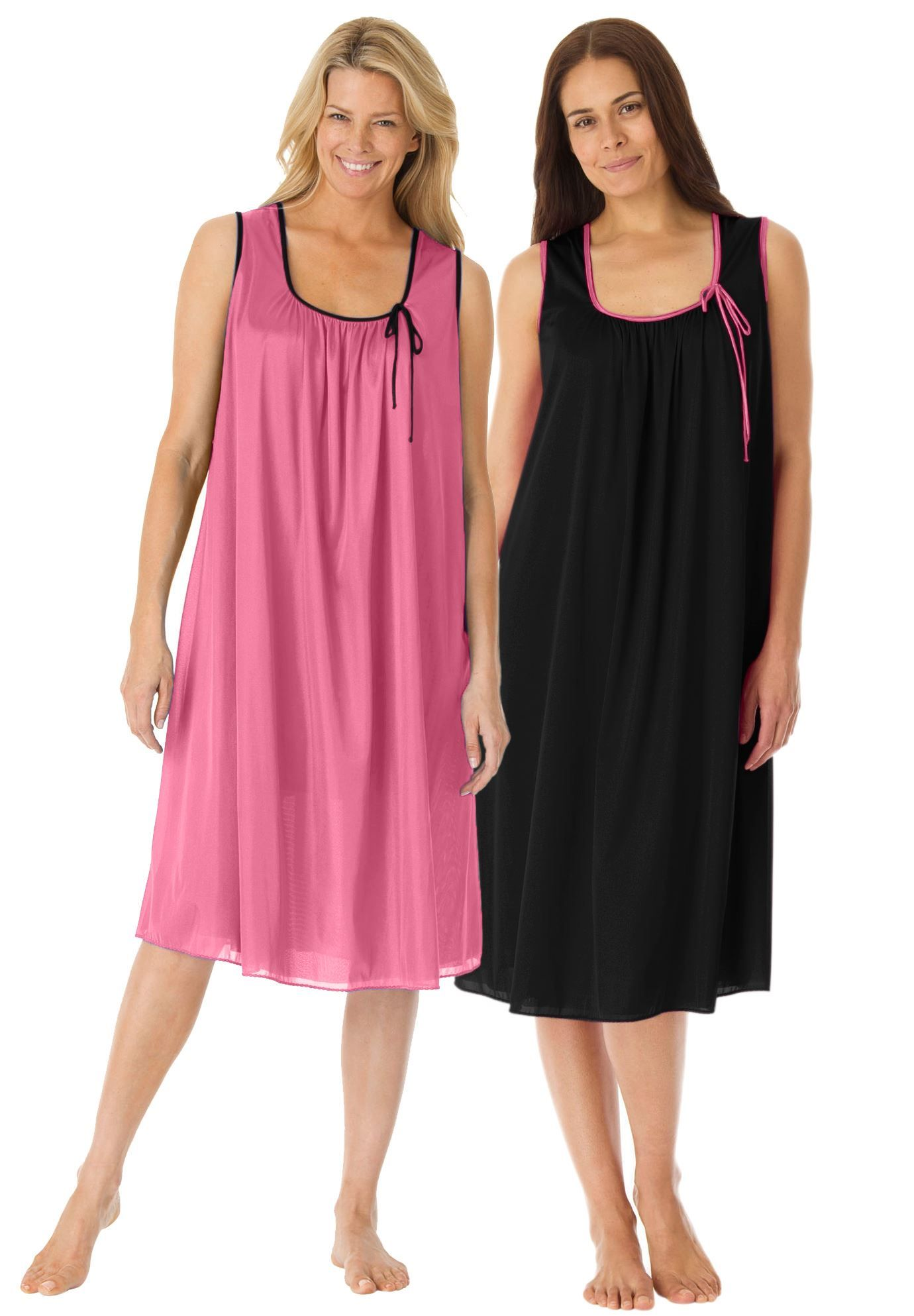28a94069f7d 2-pack sleeveless tricot night gown by Only Necessities - Women s Plus Size  Clothing