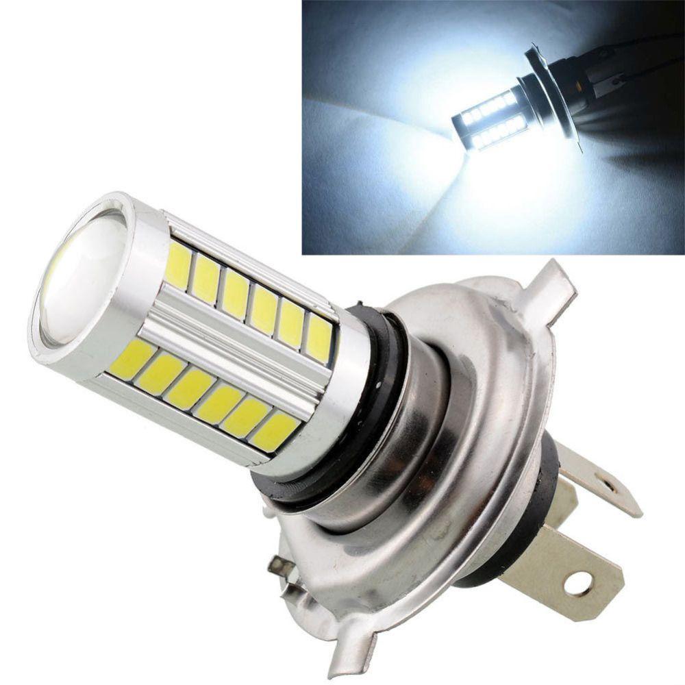 2pcs H4 Led 5630 33smd Super Bright White Car Light Source Headlight Drl Daytime Running Lights Bulb Lampada Led Carro Car Lights Camper Lights Headlight Bulbs