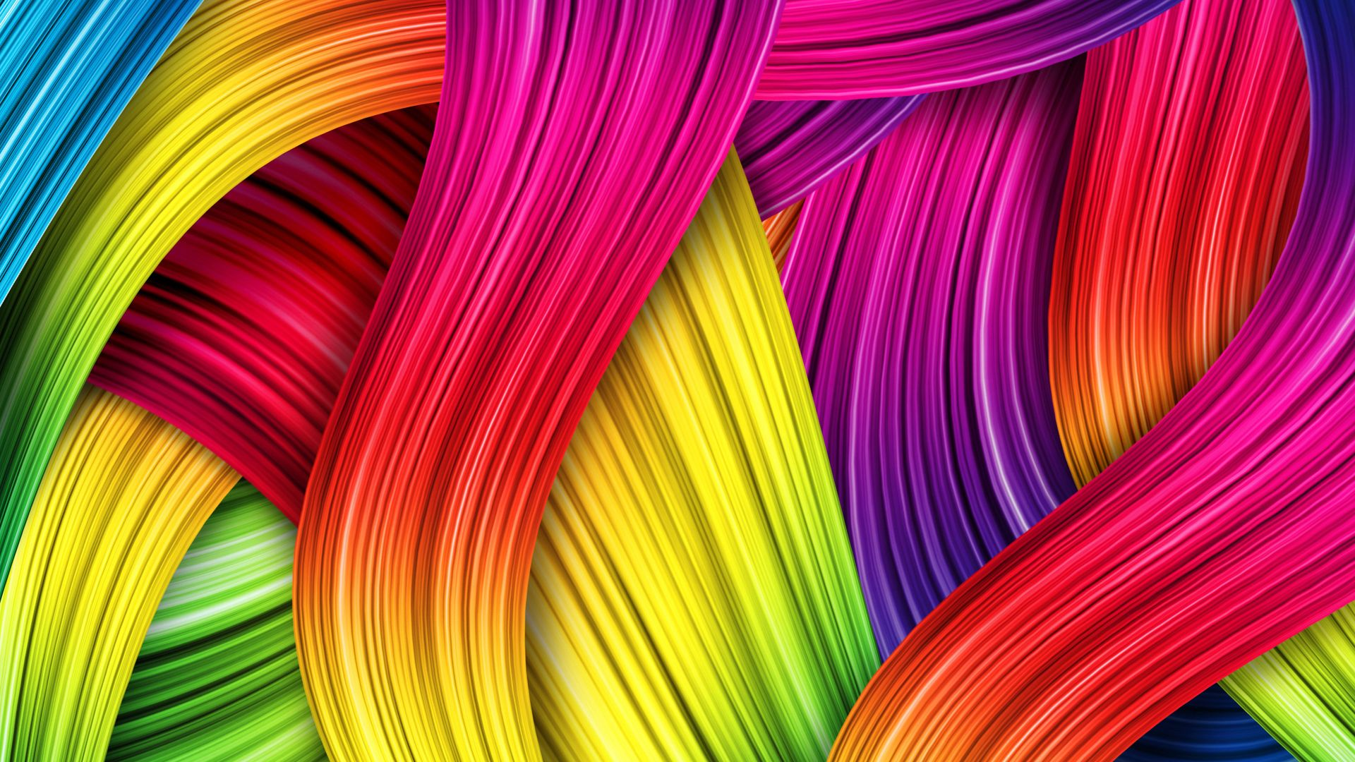 Animated Colorful Thread Wallpaper With Resolutions 1920