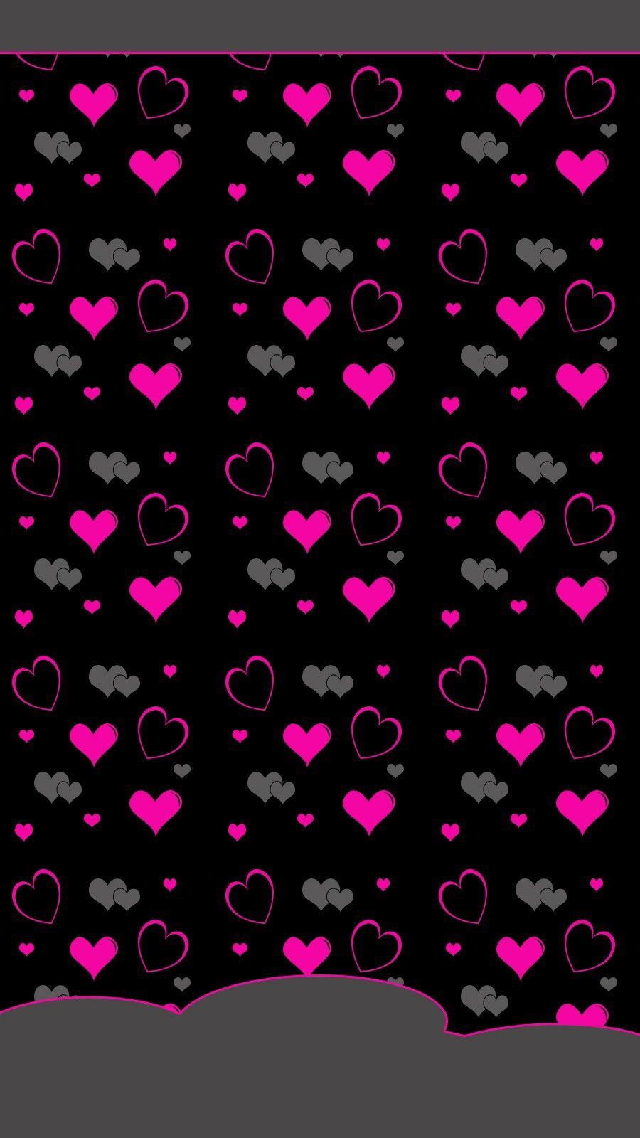 pink and grey hearts wallpaper hearts and roses wallpapers