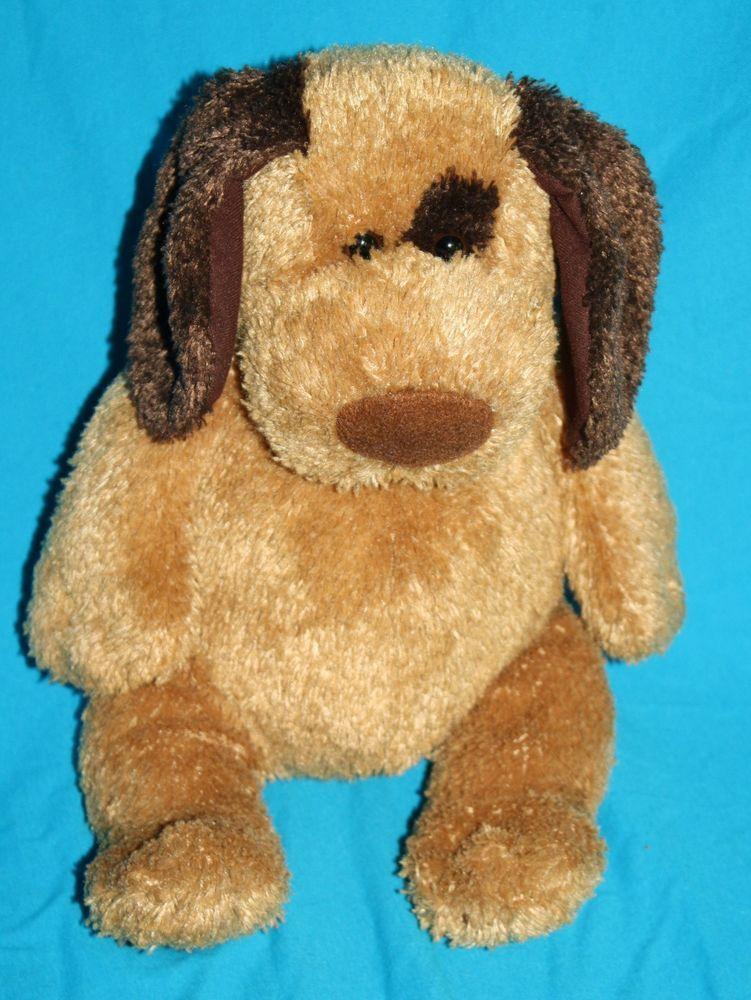 Michaels Dog Brown Dark Eye Patch Ear Tail Plush 2004 Stuffed