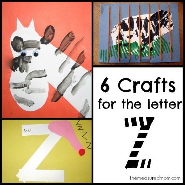 Preschool Letters, Letter Z Crafts