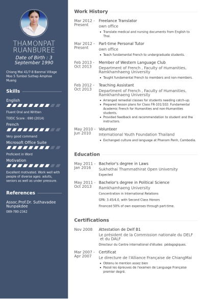example of english cv business transformation