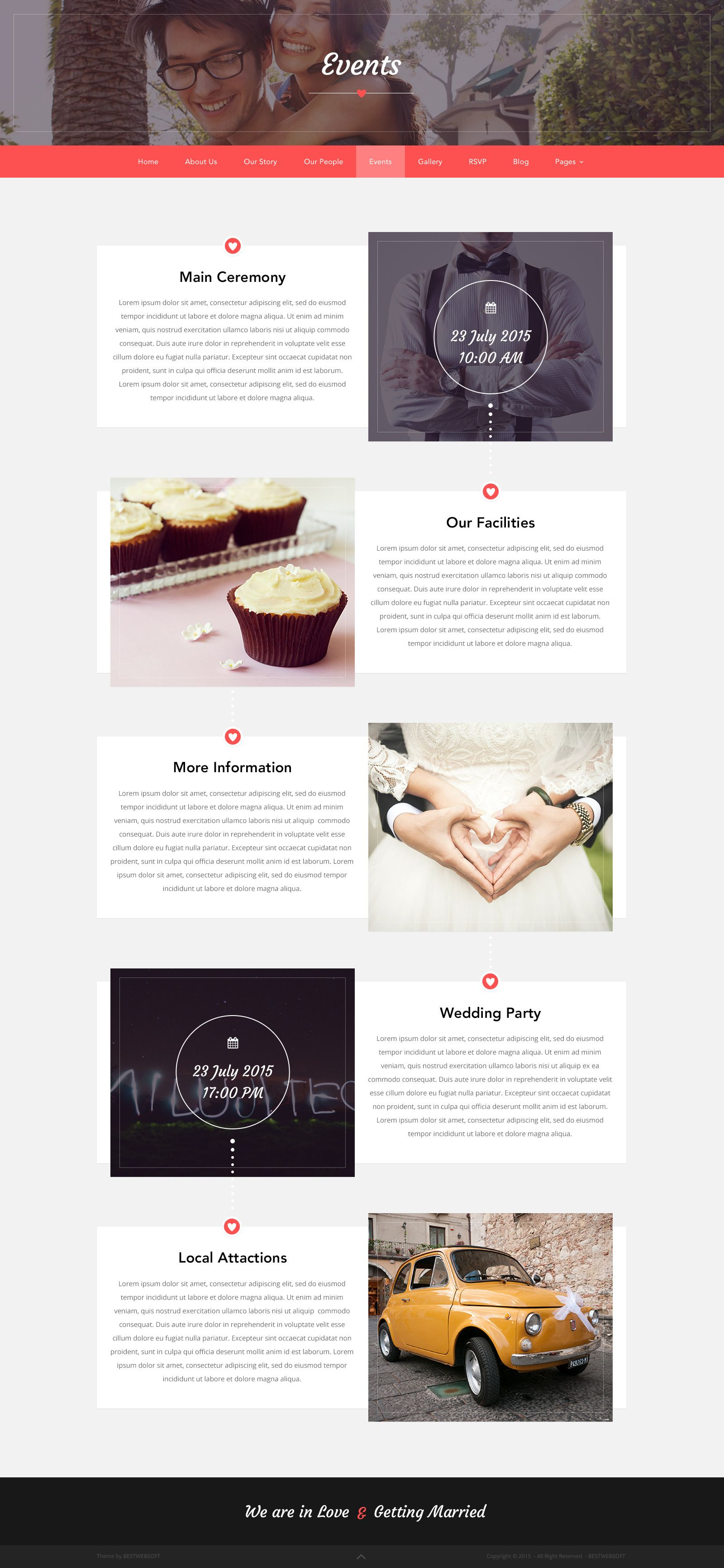 Love Ceremony Wedding PSD Template