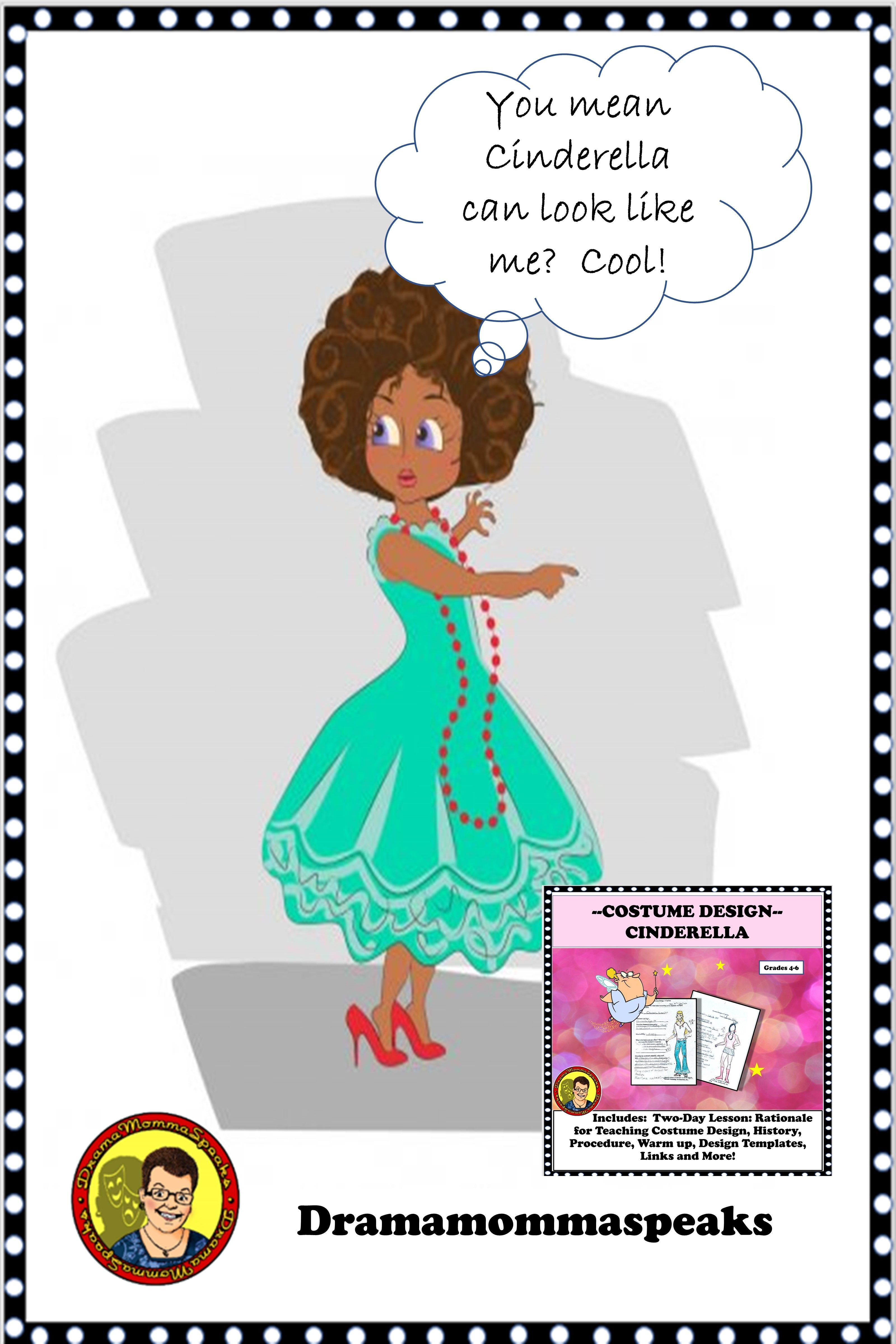 Drama Lesson Costume Design With Cinderella Characters Fairytale Lessons Drama Teacher Drama Class