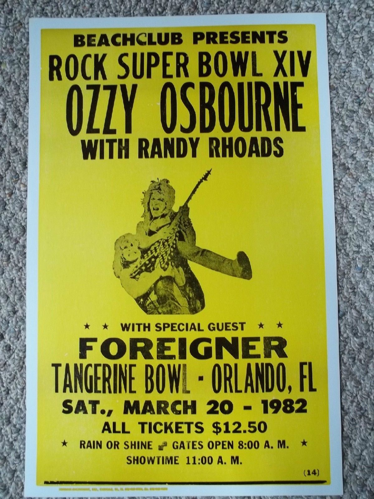 Ozzy Osbourne with Foreigner Playing in Orlando Poster | eBay