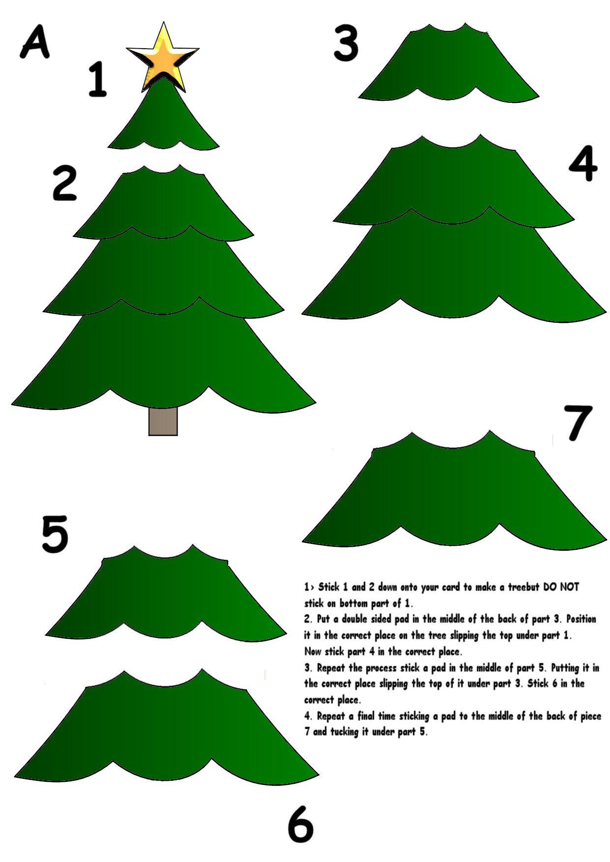 Christmas Tree Christmas Tree Template Christmas Tree Cards 3d Christmas Tree Card