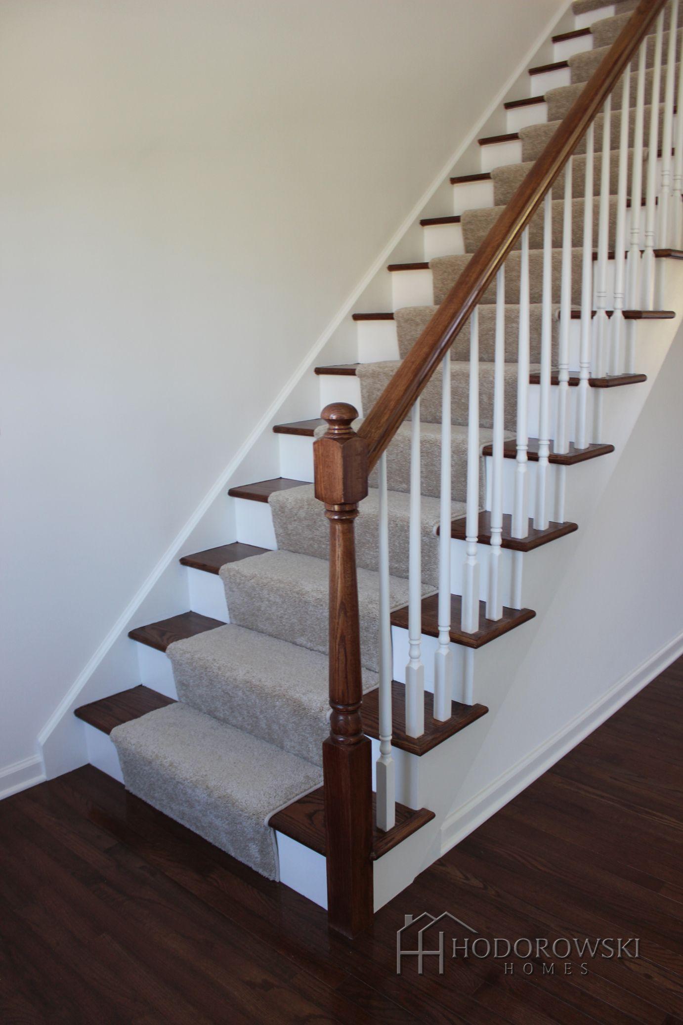 Best Beautiful Dark Hardwood Floors With Matching Oak Treads At 400 x 300