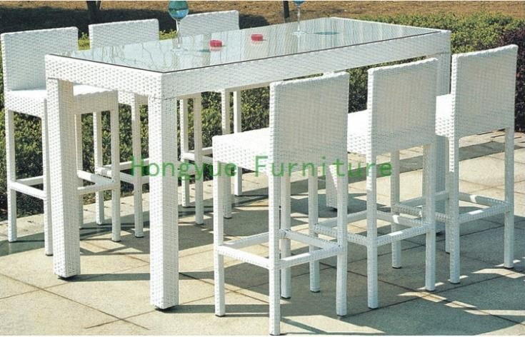 Tavolo rattan ~ Outdoor wicker bar tavolo e sedia rattan bar set mobili