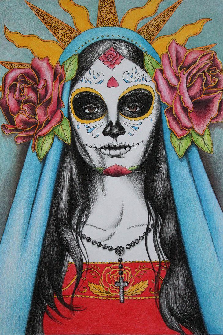 Santa Muerte Ou Santa Morte E Uma Figura Sagrada Mexicana Nao