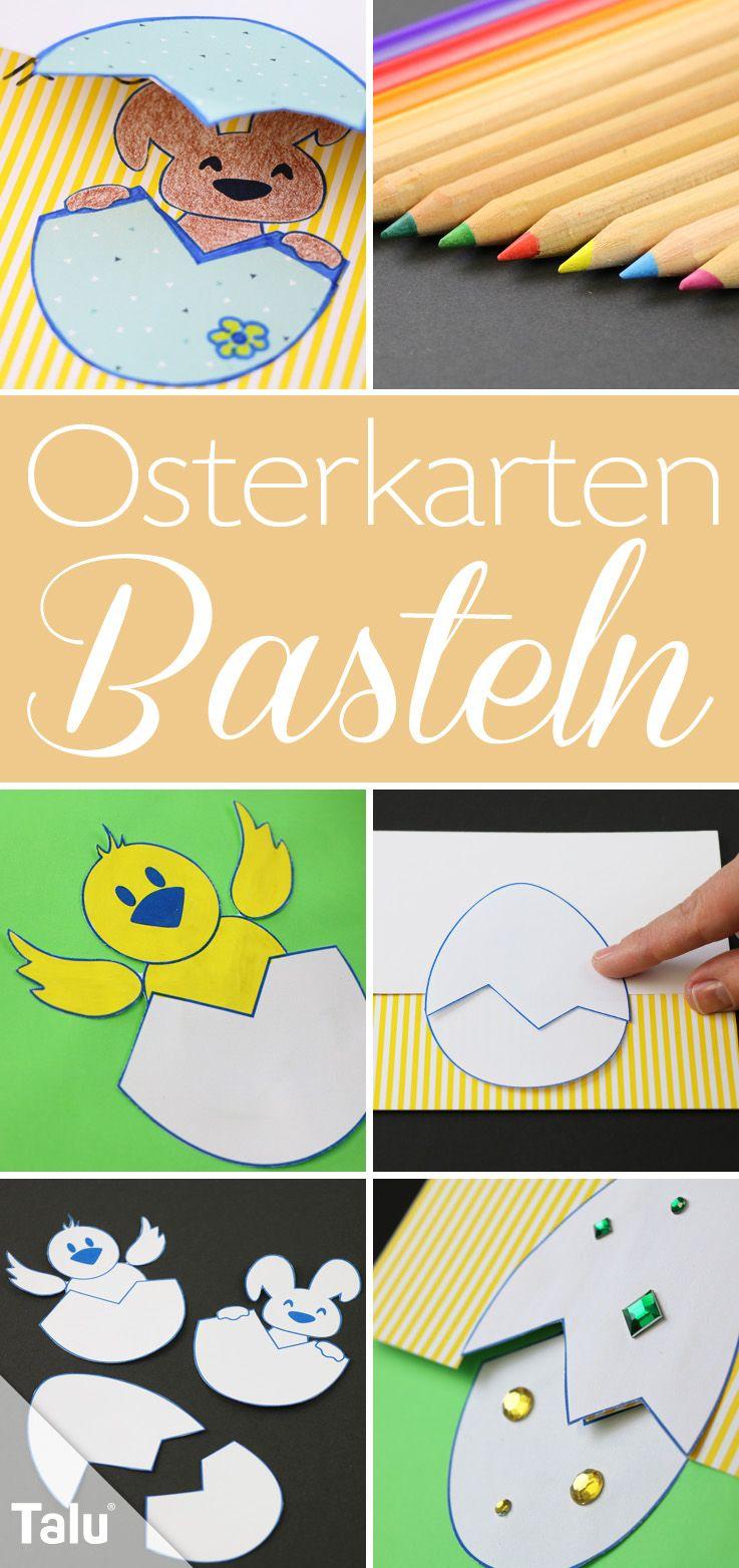 Osterkarten Basteln Anleitung Mit Vorlagen Zum Selbst Gestalten Talu De Osterkarten Basteln Osterkarten Basteln