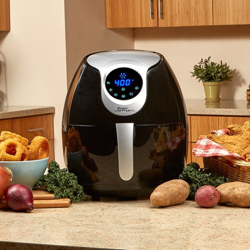 Power Air Fryer XL (3.4 QT Deluxe, Black) Power air