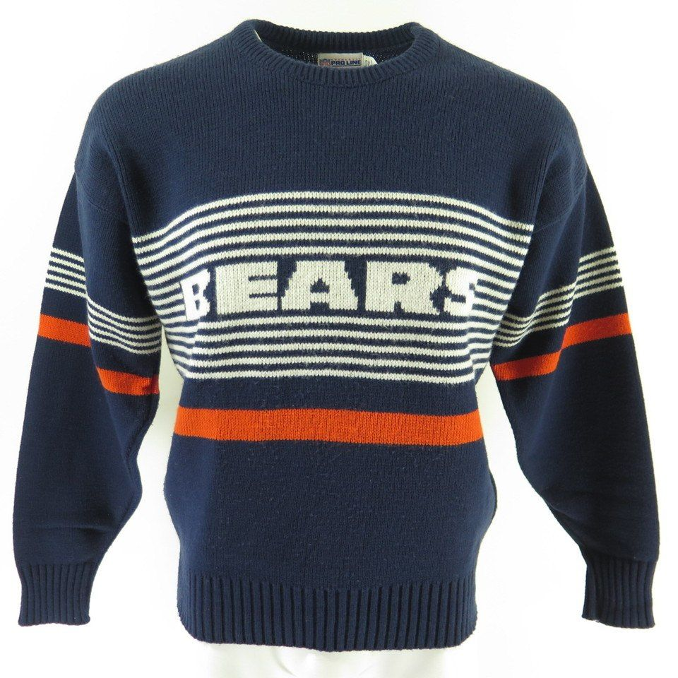low priced 7131e f97ab Vintage 80s Chicago Bears Sweater L Cliff Engle ProLine ...