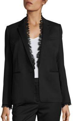 7d65718137 The Kooples Smoking Lace Trimmed Suit Jacket | Women's Suits ...