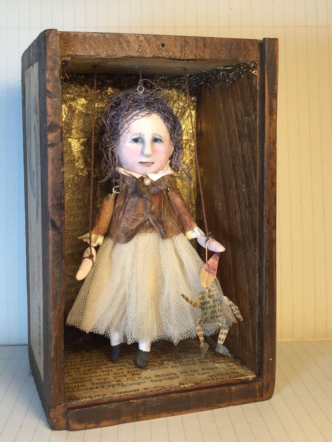 Frances OOAK Art Doll/Marionette by SusanHopkirkFolkArt on Etsy