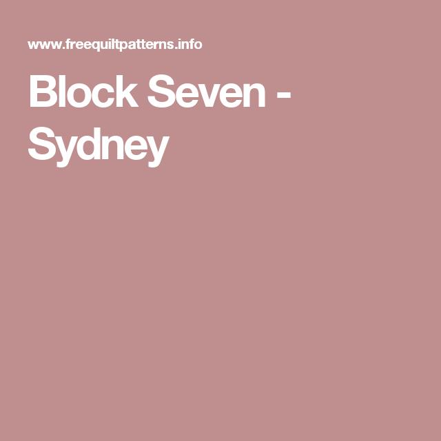 Block Seven - Sydney