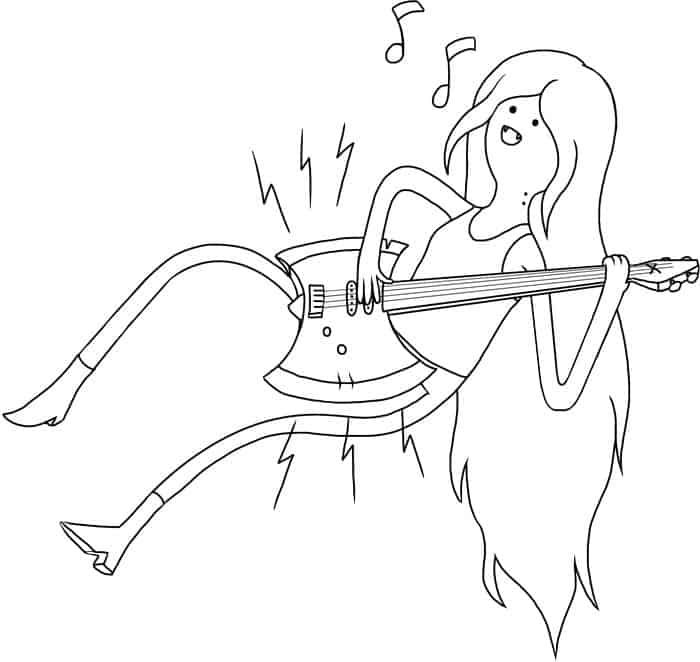 Adventure Time Coloring Pages Marceline And Bubblegum in ...