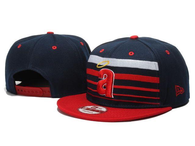 New Era MLB Los Angeles Anaheim Snapback Hats Caps Navy 3577! Only $7.90USD