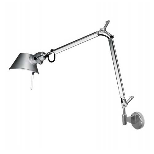 Tolomeo Micro Wall Light With J Bracket By Artemide Tol1142 Wall Lights Lamp Gold Desk Lamps