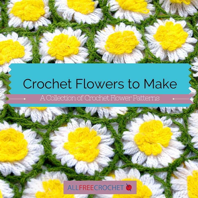 92 Crochet Flowers to Make | A collection of crochet flower patterns just for you! http://www.allfreecrochet.com/Crochet-Flower-Patterns/Crochet-Flower-patterns-collection/