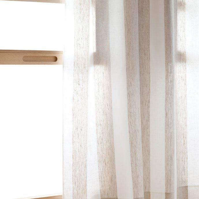 Striped linen curtain zara home home and linens for Cortinas espana