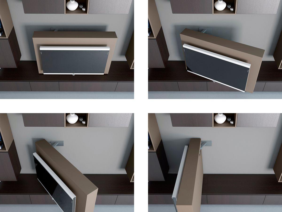 soggiorno con mobile porta tv lcd orientabile dettaglio. Black Bedroom Furniture Sets. Home Design Ideas