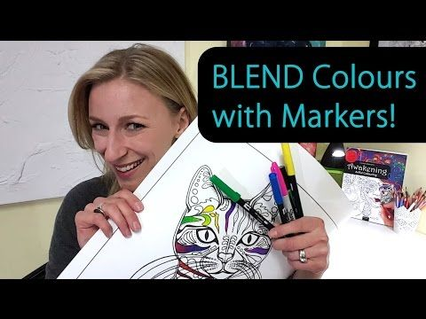 Cool Coloring Trick With Alcohol Based Markers Blending Felt