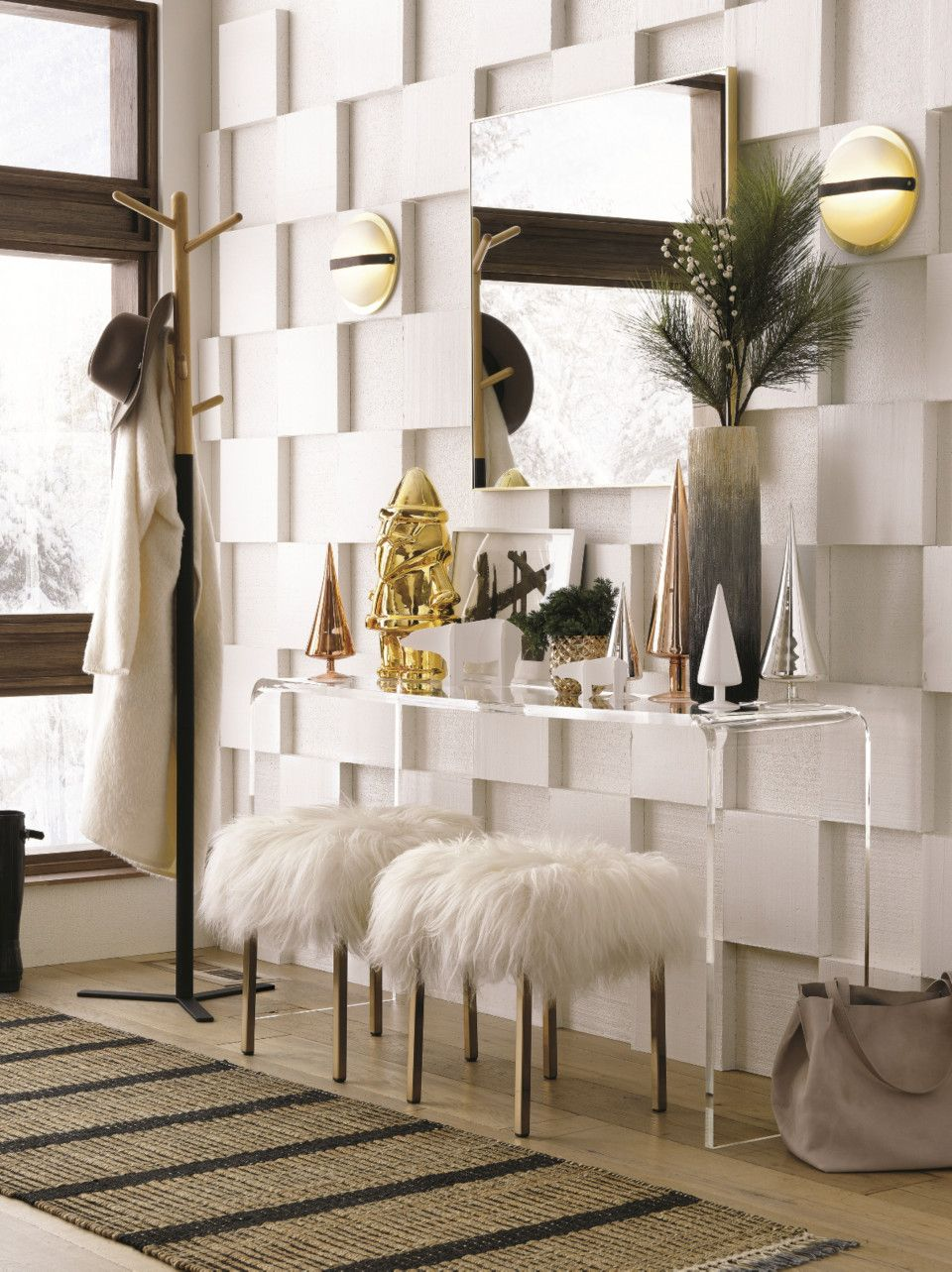 Modern Holiday Decorating Ideas Oversized wall mirrors
