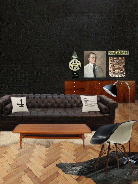 Ode aan de Chesterfield | Interior Inspiration: Dark | Pinterest ...